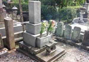 掃除後のお墓